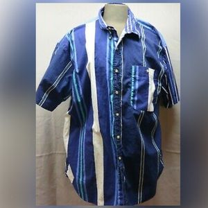 Chaps Ralpu Lauren size X Large Blue Stripe Men's